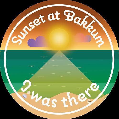 Sticker Sunset at Bakkum