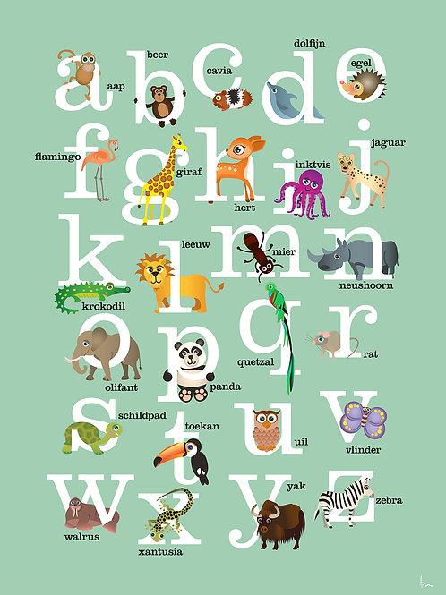 ABC met dieren (groen)