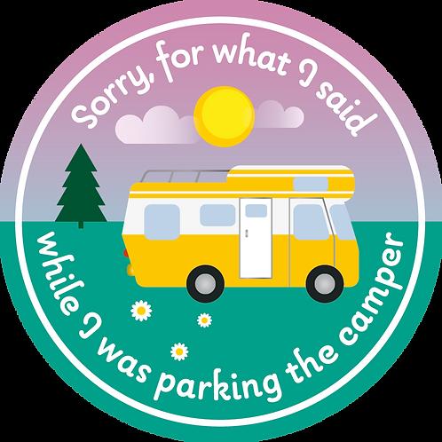 Sticker Sorry for... camper
