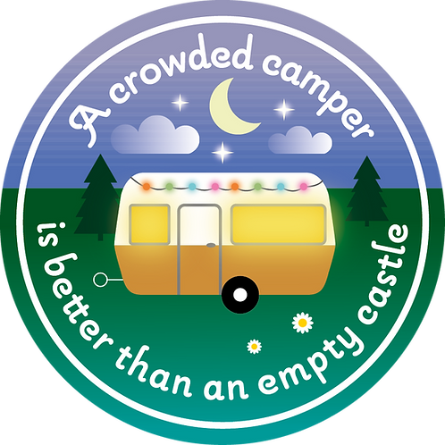 Sticker Crowded camper