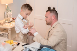 groom and ring bearer photo