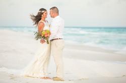 Beach Wedding Couple Portrait
