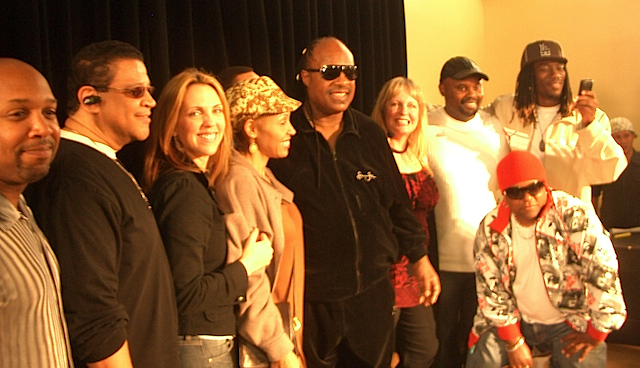 Stevie Wonder and company
