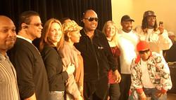 Stevie Wonder and company