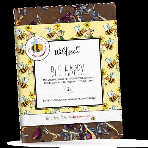 "Edle Vollmilchschoggi ""Bee Happy"" 70g"