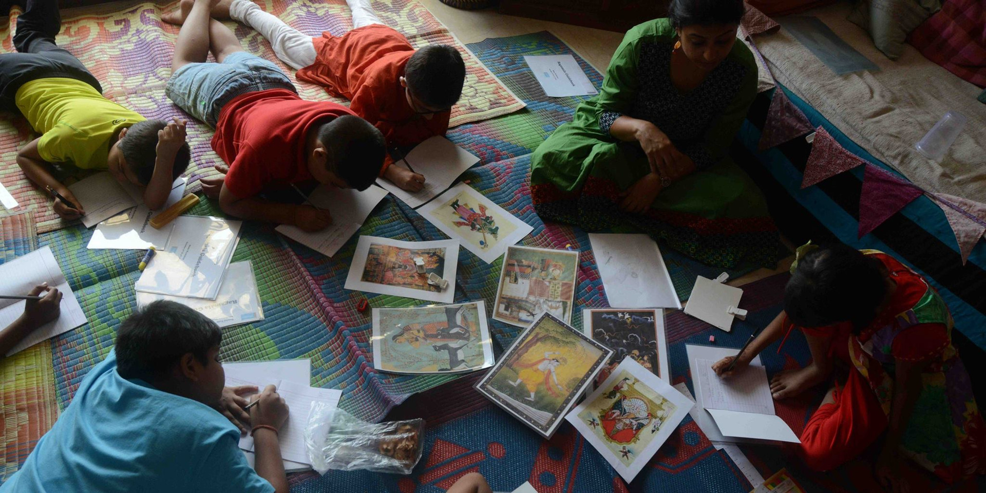 Activity for drawing own ragamala paintings
