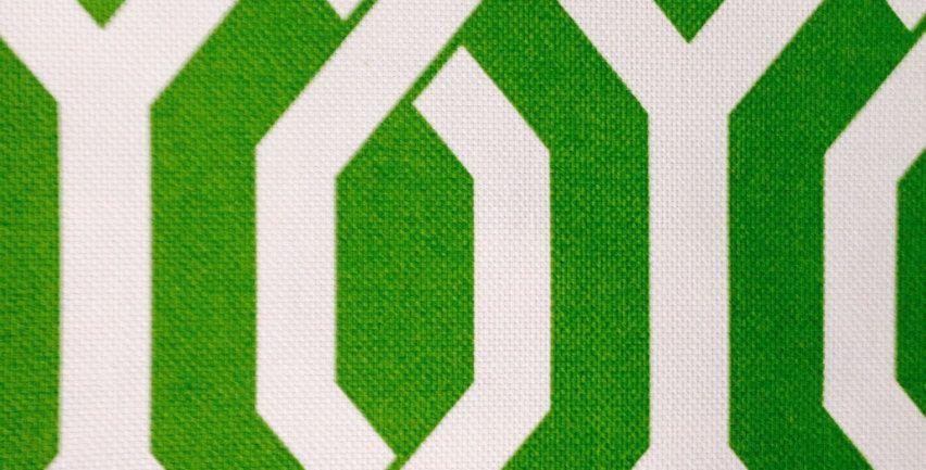 Green and White a Interlocking