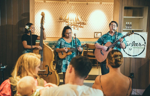 Keʻolu performing for SoFar Sounds Honolulu