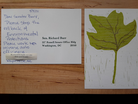 Postcard to Senator Burr