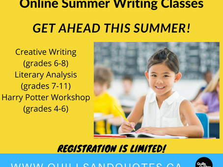 Summer Academic Camps and Summer Writing Classes