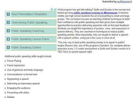 Kids Love Mississauga's New Public Speaking Program