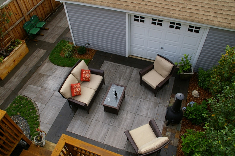 Hardscape project with limestone pavers - chicago, il