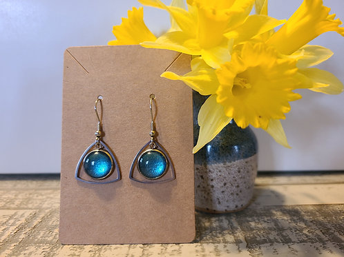 Blue Shimmer Earrings