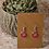 Thumbnail: Hot Pink Solid Earrings
