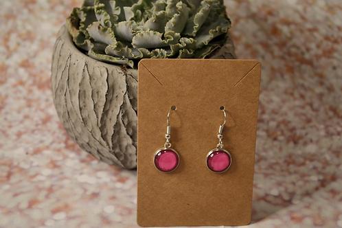 Hot Pink Solid Earrings
