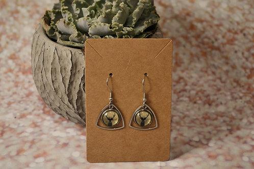 Gold Solid Reindeer Earrings