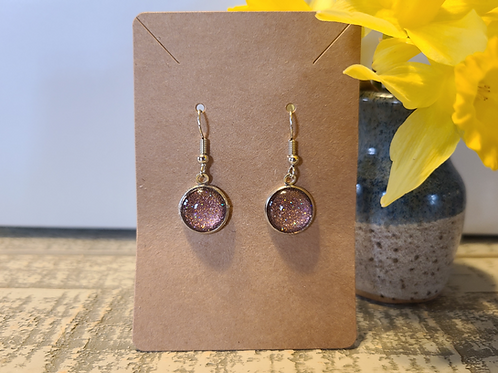 Brown Glitter Earrings