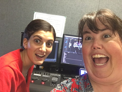 Producer Layan (left) and filmmaker Chrissy (right) in the edit bay