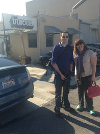 Kyle & Chrissy in front of Titmouse