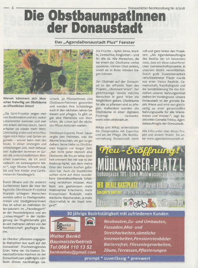Zeitungsartikel_Donaustädter_Bezirkszeit
