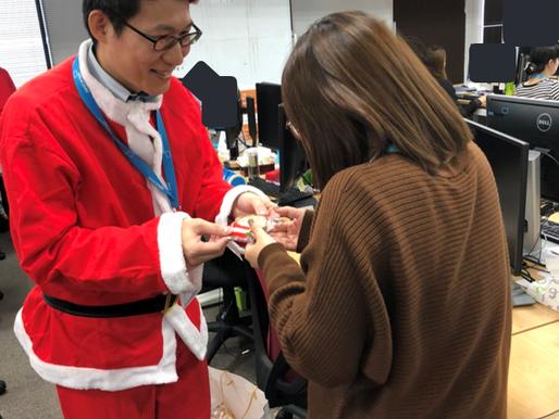 2018年12月25日 サンタがオフィスにやってきた!@宮崎センター