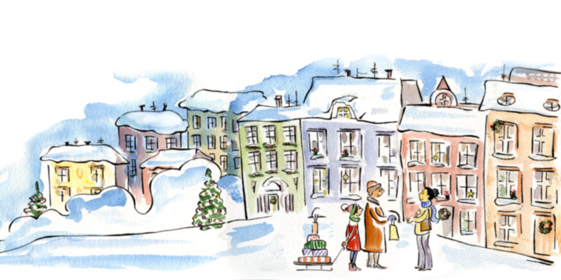 Street scene from Lulu and Lainey ... 12 Days of Christmas