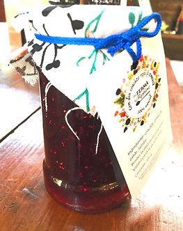 Gem din coacăze roșii și zmeură