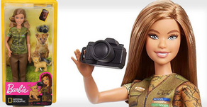 Barbie fotoreporter per il National Geographic