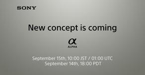 """Sony conferma che il nuovo """"concept"""" Alpha è in arrivo il 14 settembre"""