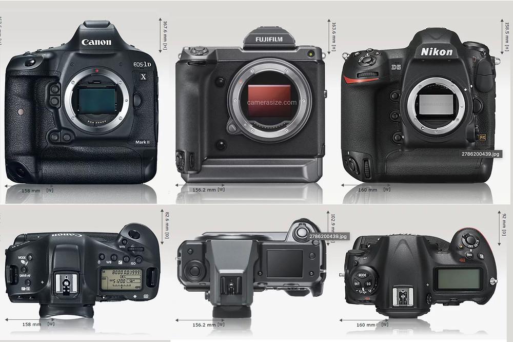 confronto gfx100, Eos 1d X markIII, Nikon D5