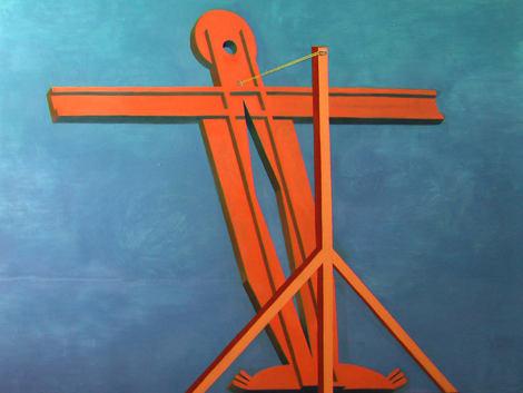Croix de Giotto, 180x250cm, oil on paperboard, 2009