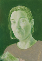 Verte, 35x25cm, huile sur bois, 2018 _ private collection