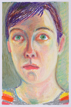 Autoportrait confinement_23x16cm_oil pastel on paper_2020