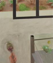 Vision globale, 54x45cm, tempera sur bois, 2018-2019 _ private collection