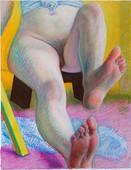 Pieds flex_39x30cm_oil pastel on paper_2020
