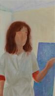 Petit peintre avec espace autour, 40x23cm, oil on wood, 2019 _ private collection