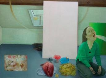 Les histoires d'amour, 170x230 cm, oil on canvas, 2017 _ private collection