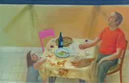 Au revoir, 65x100cm, oil on canvas, 2015 _ private collection