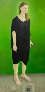Olga, 162x80cm, oil on woodboard, 2015 _ private collection