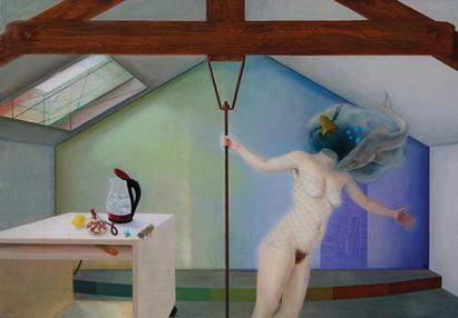 Melancholia ou la rate au court bouillon, 170x240 cm, oil on canvas, 2017