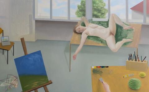 Le sujet, 81x130cm, oil on canvas, 2015