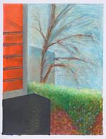 Vue de la fenêtre_23x16cm_oil pastel on paper_2020
