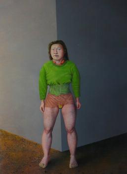 Créature, 250x180cm, oil on paper, 2009