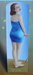 Najma en bleu, 150 x 70 cm, oil on canvas, 2016 _ private collection