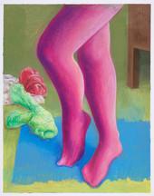 Pointe_39x30cm_oil pastel on paper_2020