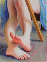 Pieds _ 35x29cm_oil pastel on paper_2020_private collection