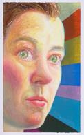 Autoportrait avec rayons_23x16cm_oil pastel on paper_2020