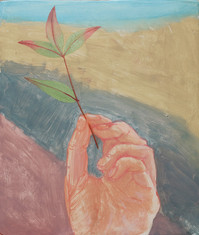 Feuille, 23x19cm, oil on wood, 2017 _ private collection
