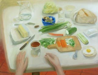 Table de cuisine, 60x47cm, oil on wood, 2014 _ private collection