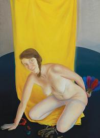 La jeune fille et la mort, 140x100 cm, oil on wood, 2017